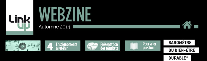 WEBZINE LINKUP CONSEIL - Automne 2014 - LEVIERS D'ADHESION AUX MARQUES - Si le bien-être est, pour une majorité de Français, quelque chose de durable et dont ils sont acteurs, c'est aussi une attente adressée aux marques. Un nouveau critère de préférence comme le révèle cette 2e édition du Baromètre du Bien-Être durable Linkup/IPSOS.